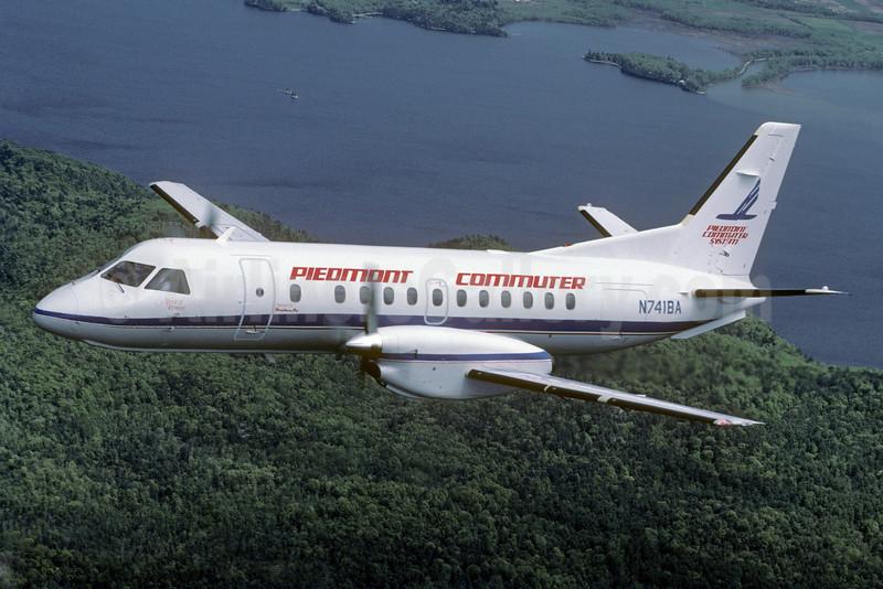 Piedmont Commuter (Piedmont Commuter System)-Brockway Air Swearingen Fairchild (SAAB) SF340A N741BA (msn 090) PLB (Jay Selman). Image: 402248.