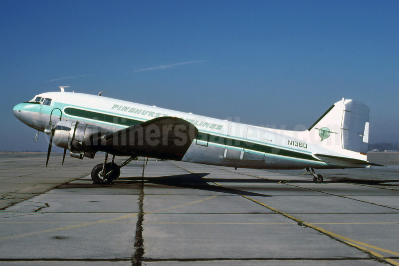 Pinehurst Airlines Douglas C-47A-DL (DC-3) N136D (msn 18925) (George H. Greig - Bruce Drum Collection). Image: 920629.