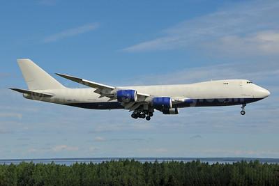 Polar Air Cargo Boeing 747-87UF N857GT (msn 37567) (British Airways World Cargo underside) ANC (Ken Petersen). Image: 928226.
