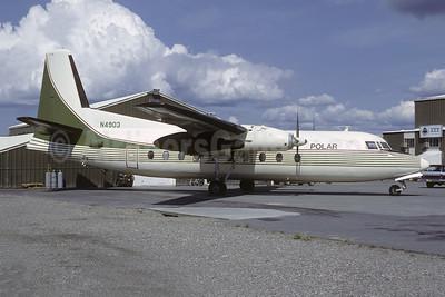 Polar International Airlines (Polar Alaska) Fairchild F-27B N4903 (msn 15) (Emerald Air colors) FAI (Ulrich Klee - Bruce Drum Collection). Image: 952643.