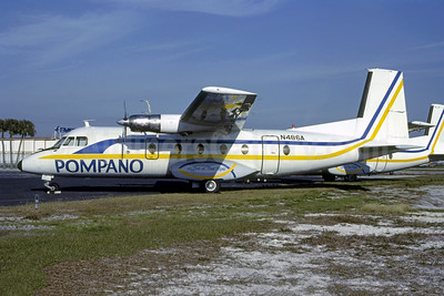 Pompano Airways Nord 262A-27 N486A  (msn 84) FLL (Nigel P. Chalcraft - Bruce Drum Collection). Image: 950373.