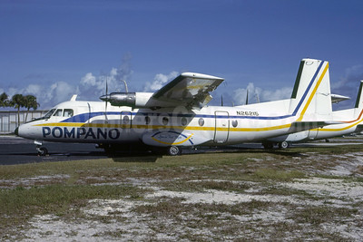 Pompano Airways Nord 262A-12 N26215 (msn 23) FLL (Nigel P. Chalcraft - Bruce Drum Collection). Image: 950372.