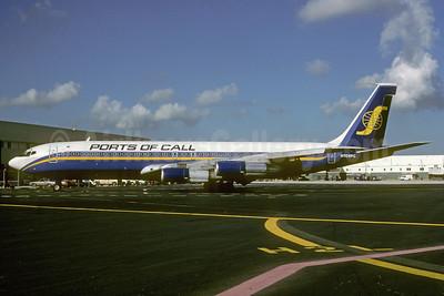 Ports of Call Boeing 707-323B N709PC (msn 20175) MIA (Bruce Drum). Image: 103119.