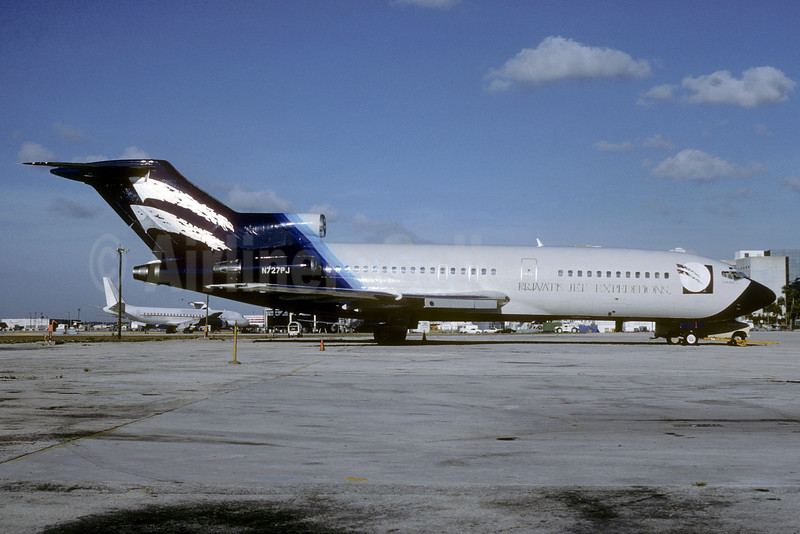 Private Jet Expeditions Boeing 727-31 N727PJ (msn 18752) MIA (Bruce Drum). Image: 103329.