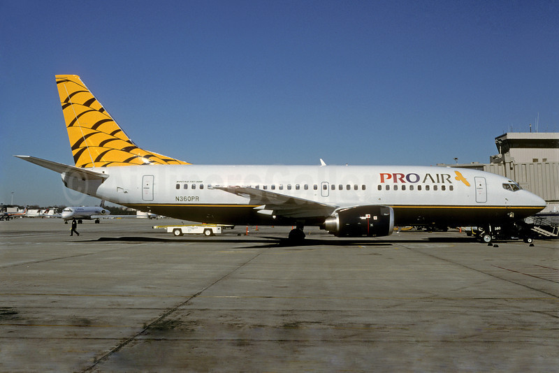 Pro Air (Michigan) (2nd) Boeing 737-3U3 N360PR (msn 28742) ATL (Norbert G. Raith). Image: 921813.