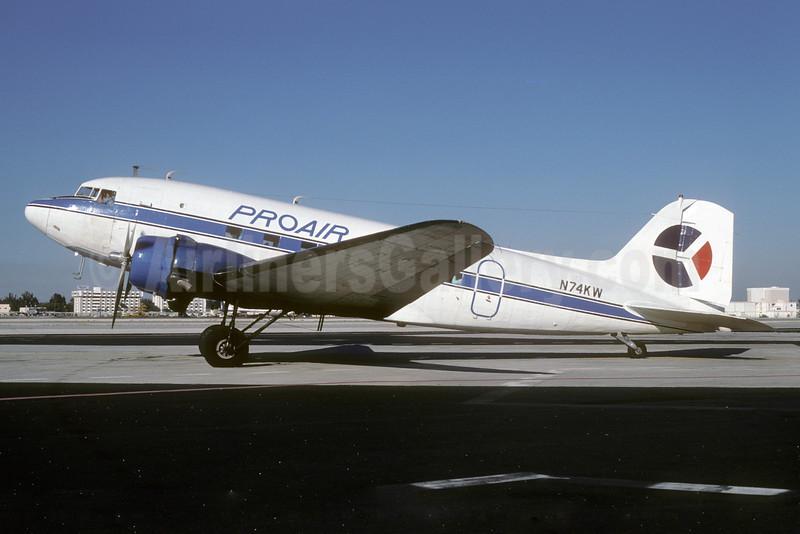 Pro Air Services (Florida) (1st) Douglas C-53-DO (DC-3) N74KW (msn 7317) MIA (Bruce Drum). Image: 103298.
