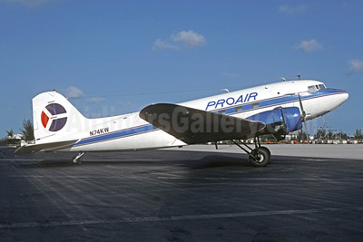 Pro Air Services (Florida) (1st) Douglas C-53-DO (DC-3) N74KW (msn 7317) MIA (Bruce Drum). Image: 104994.