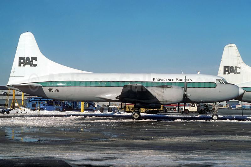 Providence Air Charter-PAC Convair VT-29B (240-27) N151PA (msn 232) ORD (Christian Volpati Collection). Image: 926989.
