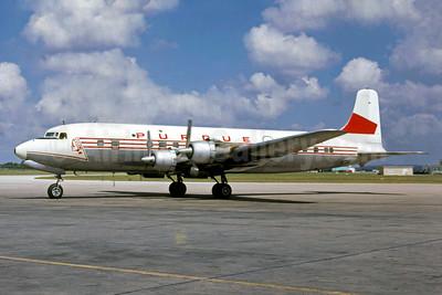 Purdue Airlines Douglas DC-6B N93126 (msn 45322) (Western Airlines colors) (Jacques Guillem Collection). Image: 934480.