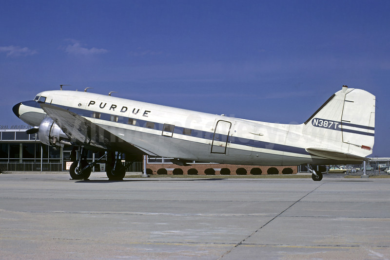 Purdue Airlines Douglas C-47A-DL (DC-3) N387T (msn 20507) (Jacques Guillem Collection). Image: 934481.
