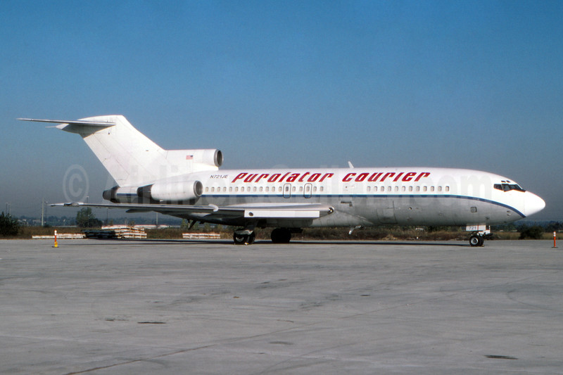 Purolator Courier (USA) (Orion Air) Boeing 727-76 (F) N721JE (msn 18843) (Jet East colors) (Fernandez Imaging Collection). Image: 932476.