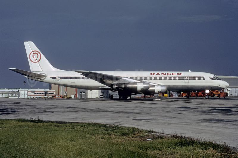 Ranger Air Cargo Douglas DC-8-33 (F) N8184A (msn 45271) (Delta colors) MIA (Bruce Drum). Image: 103410.