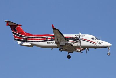 Ravn Alaska (Corvus Airlines) Beechcraft (Raytheon) 1900C N971EA (msn UE-389) ANC (Michael B. Ing). Image: 927896.