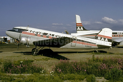 Reeve Aleutian Airways-RAA Douglas C-47-DL (DC-3) N19906 (msn 4747) ANC (Bruce Drum). Image: 102331.