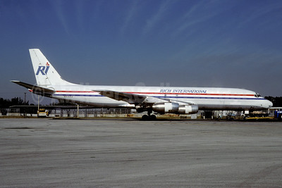 Rich International Airways McDonnell Douglas DC-8-33 N8166A (msn 45269) MIA (Bruce Drum). Image: 103136.