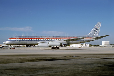 Rich International Airways McDonnell Douglas DC-8-62 N1808E (msn 46105) MIA (Keith Armes). Image: 921105.