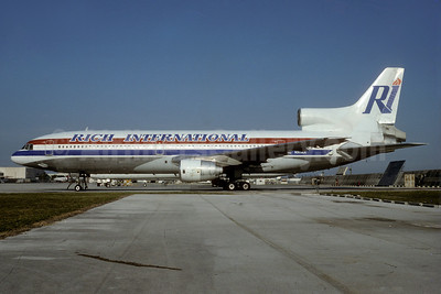 Rich International Airways Lockheed L-1011-385-1 TriStar 1 N303EA (msn 1004) MIA (Bruce Drum). Image: 103131.