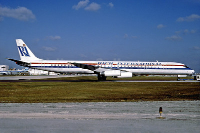 Rich International Airways McDonnell Douglas DC-8-63 N4935C (msn 45931) MIA (Bruce Drum). Image: 102463.