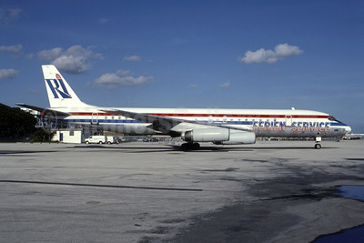 Ferien Service (Rich International Airways) McDonnell Douglas DC-8-62 N1805 (msn 45899) MIA (Bruce Drum). Image: 105180.
