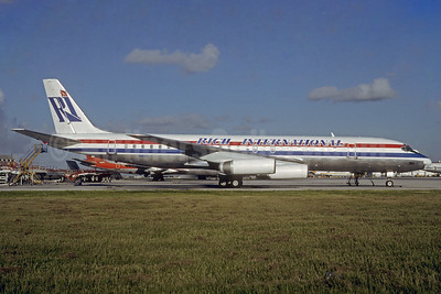 Rich International Airways McDonnell Douglas DC-8-62 N1805 (msn 45899) MIA (Bruce Drum). Image: 103137.