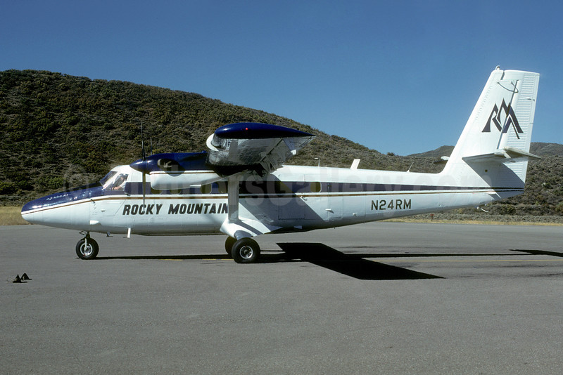 Rocky Mountain Airways-RMA de Havilland Canada DHC-6-300 Twin Otter N24RM (msn 372) ASE (Bruce Drum). Image: 103122.