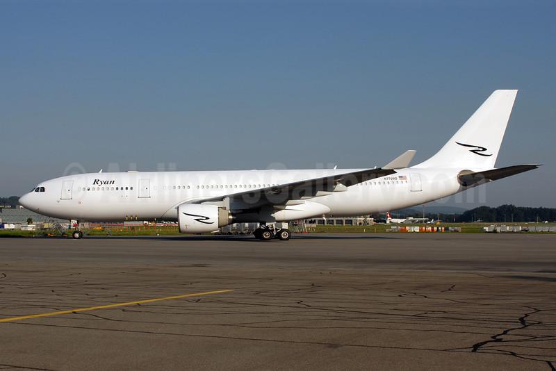 Ryan International Airlines Airbus A330-223 N772RD (msn 343) ZRH (Rolf Wallner). Image: 908881.