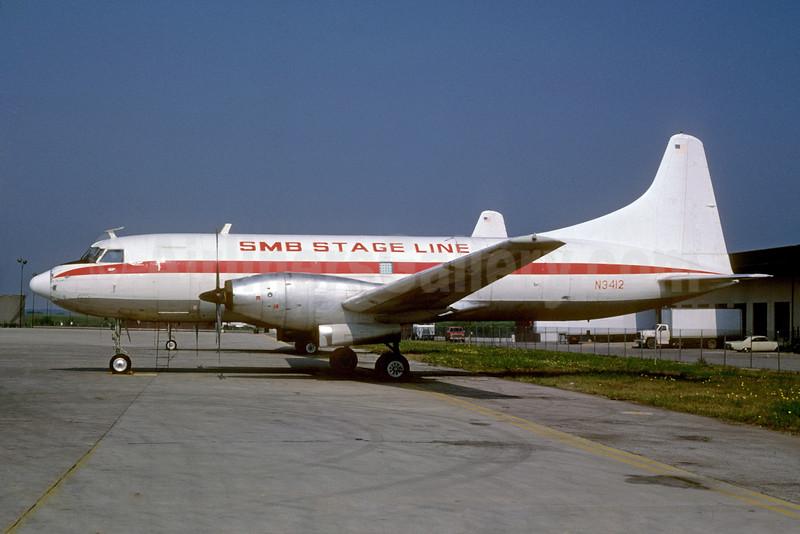 SMB Stage Line Convair 640 (F) N3412 (msn 32) DFW (Bruce Drum). Image: 104019.