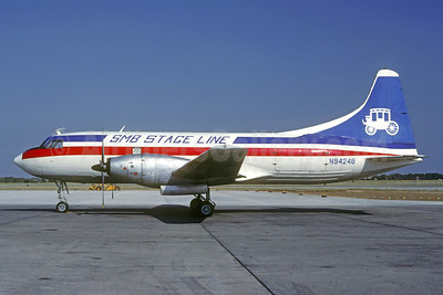 SMB Stage Line Convair 600 (F) N94248 (msn 105) (Texas International colors) OKC (Christian Volpati Collection). Image: 940786.