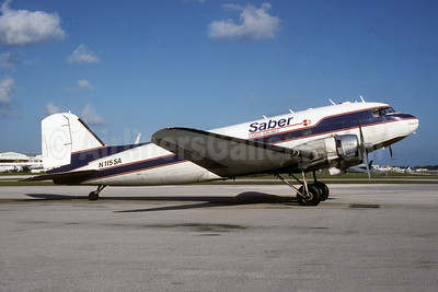 Saber Cargo Airlines Douglas C-47A-DK (DC-3) N115SA (msn 13310) MIA (Bruce Drum). Image: 105010.