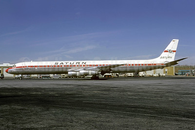 Saturn Airways McDonnell Douglas DC-8-61CF N8956U (msn 45949) ATL (Bruce Drum). Image: 103168.