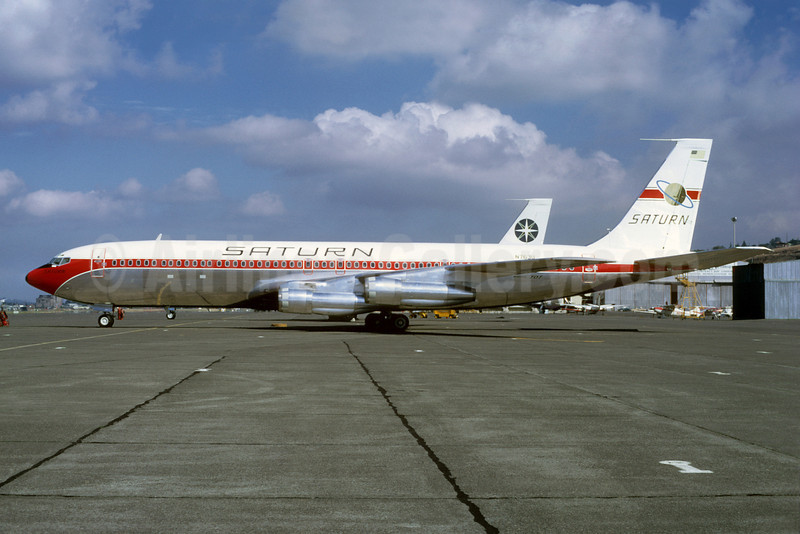 Saturn Airways Boeing 707-379C N763U (msn 19822) BFI (Ted J. Gibson - Bruce Drum Collection). Image: 921268.