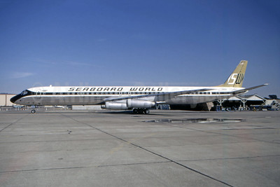 Seaboard World Airlines McDonnell Douglas DC-8-63CF N8636 (msn 46051) (Bruce Drum Collection). Image: 946754.