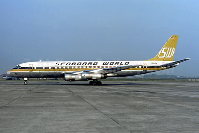 Seaboard World Airlines McDonnell Douglas DC-8F-55 Jet Trader N804SW (msn 45816) MUC (Christian Volpati Collection). Image: 949422.