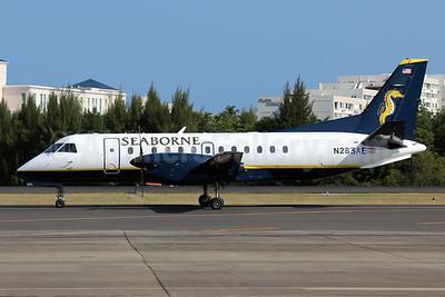 Seaborne Airlines SAAB 340B N283AE (msn 283) (Seahorse) SJU (Raul Sepulveda). Image: 922659.