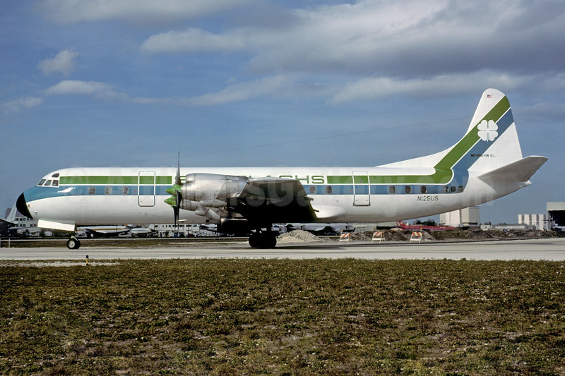 Shillelaghs Lockheed 188C Electra N125US (msn 1101) MIA (Bruce Drum). Image: 103495.