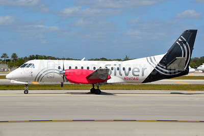 Silver Airways SAAB 340B N347AG (msn 447) FLL (Bruce Drum). Image: 104465.
