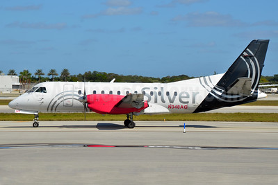 Silver Airways SAAB 340B N348AG (msn 448) FLL (Bruce Drum). Image: 104466.
