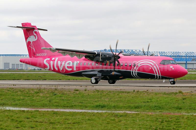 """Silver's first ATR 42-600, delivered on April 13, 2018, """"Mile Marker Zero"""", named """"Bella"""""""