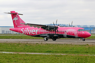 "Silver's first ATR 42-600, delivered on April 13, 2018, ""Mile Marker Zero"", named ""Bella"""