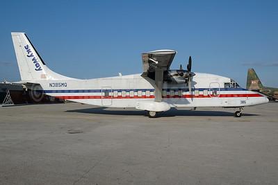 SkyWay Enterprises Shorts SD3-60 N385MQ (msn SH3707) (American Eagle colors) MIA (Bruce Drum). Image: 100644.