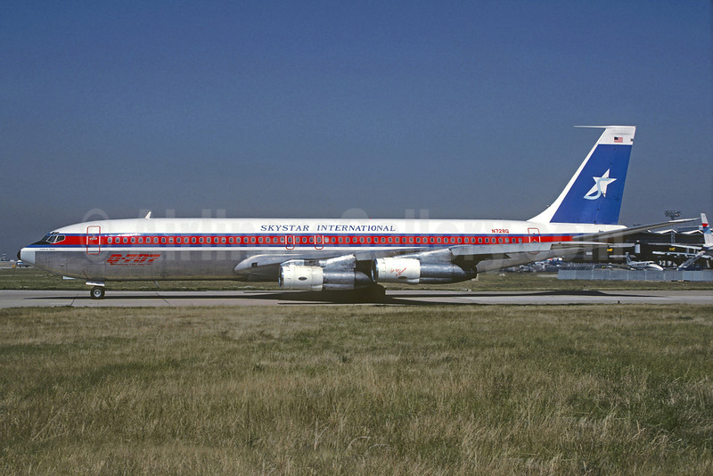 Skystar International Airlines Boeing 707-321B N728Q (msn 20025) ORY (Jacques Guillem). Image: 921715.