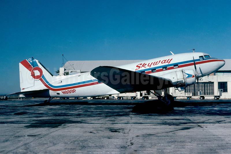 Skyway Airlines (Missouri) Douglas C-53D-DO (DC-3) N889P (msn 11737) (Jacques Guillem Collection). Image: 937412.