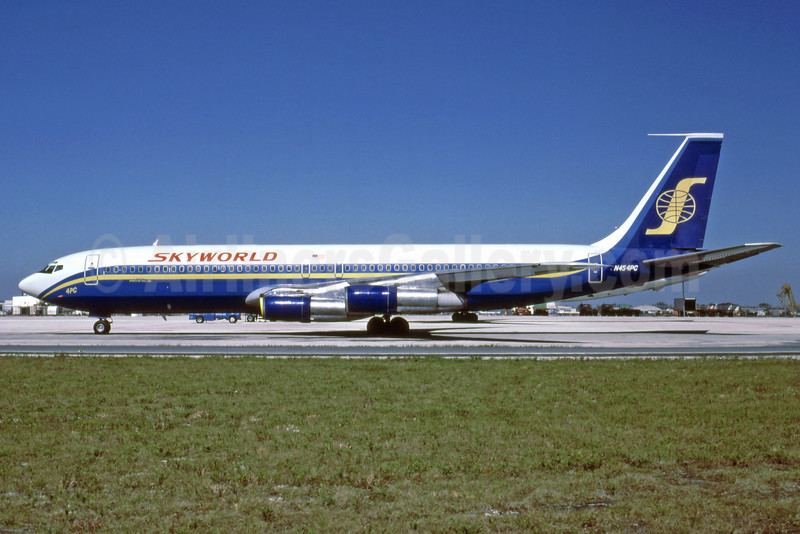 Skyworld Airlines Boeing 707-321B N454PC (msn 18839) MIA (Keith Armes). Image: 909184.