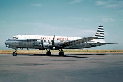 Slick Airways Douglas DC-6A N6813C (msn 44889) NSFO (Jacques Guillem Collection). Image: 945445.