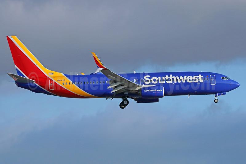 Southwest Airlines  Boeing 737-8H4 SSWL N8511K (msn 36670) LAX (Michael B. Ing). Image: 938518.