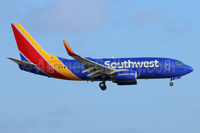 Southwest Airlines Boeing 737-76N WL N7822A (msn 32596) LAX (Michael B. Ing). Image: 933303.