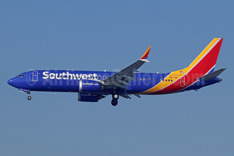 Southwest Airlines Boeing 737-8 MAX 8 N8714Q (msn 36934) LAX (Michael B. Ing). Image: 940320.