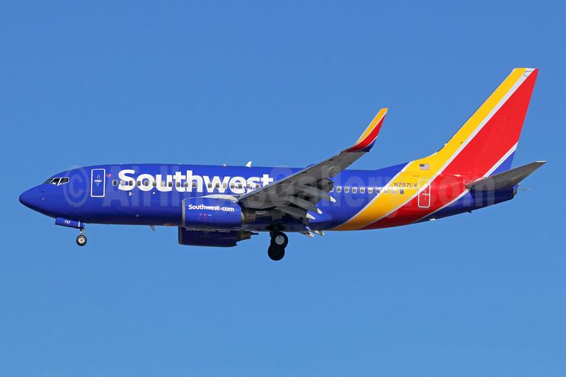 Southwest Airlines Boeing 737-7H4 WL N757LV (msn 29850) LAX (Michael B. Ing). Image: 938495.