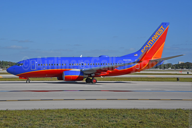 Southwest Airlines Boeing 737-790 WL N557WN (msn 30166) FLL (Bruce Drum). Image: 104567.