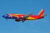 Southwest Airlines Boeing 737-3H4 N383SW (msn 26589) (Arizona One) LAS (Bruce Drum). Image: 100281.